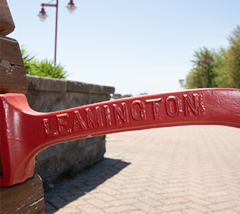 park bench back Leamington