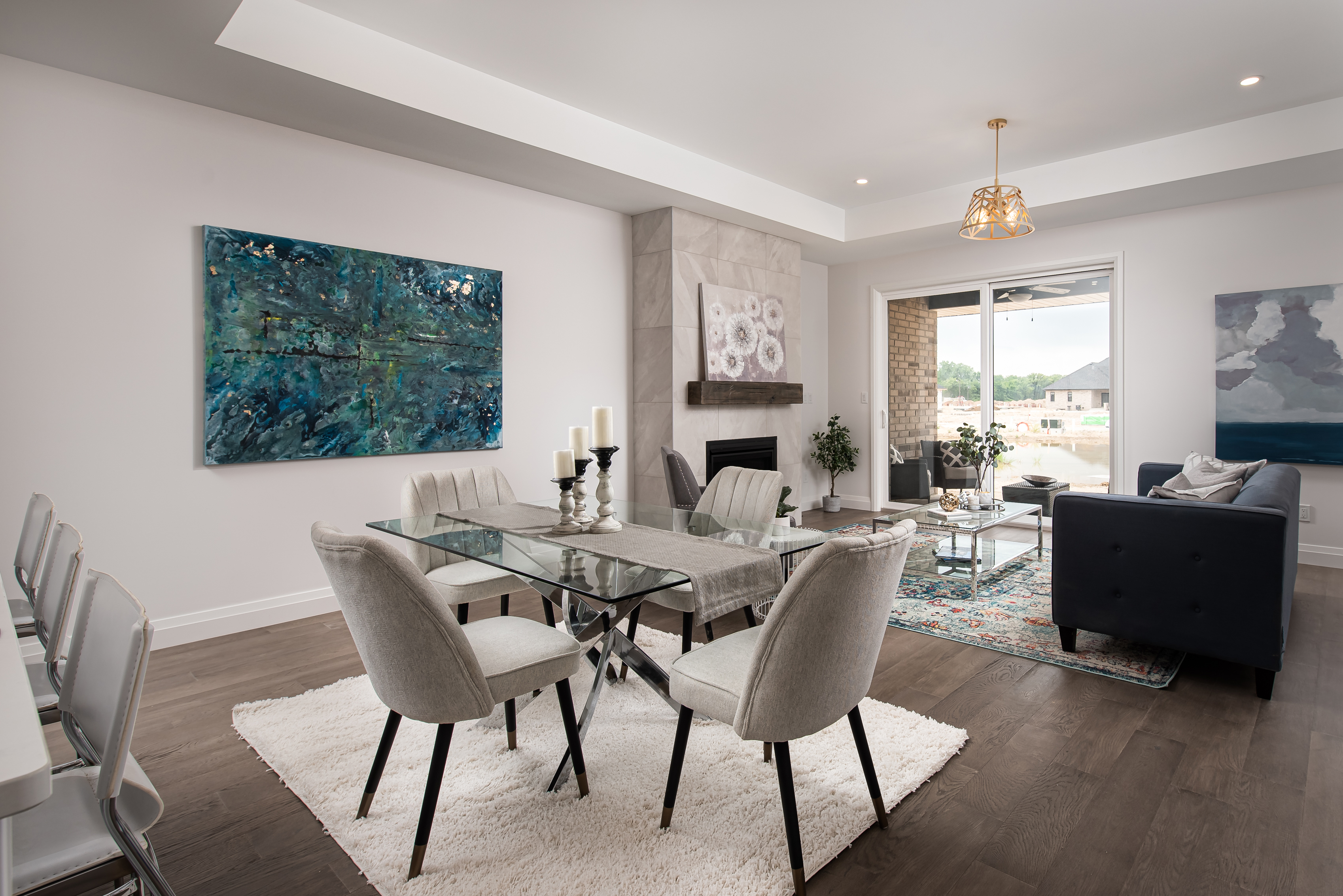 The Landings Kitchen and Living Area