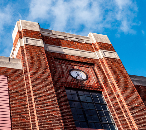 Country Market brick building clock LaSalle