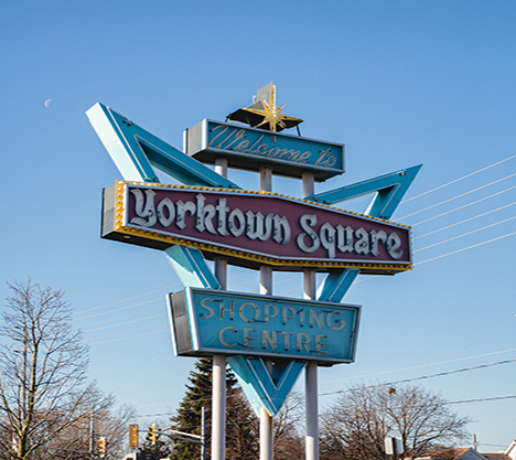 Yorktown Square Sign South Windsor