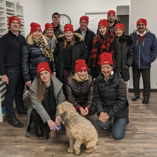 Jump Realty agents with toques Tecumseh office